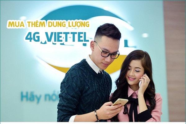 Cách mua thêm gói cước 4G cho thuê bao di động Viettel